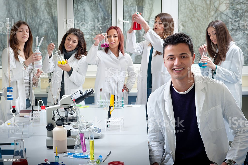 group of medical students royalty-free stock photo