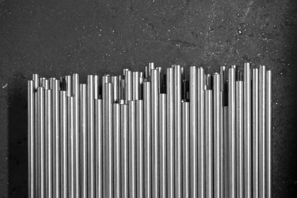 group of metal rod abstract group of metal rod in the factory rod stock pictures, royalty-free photos & images
