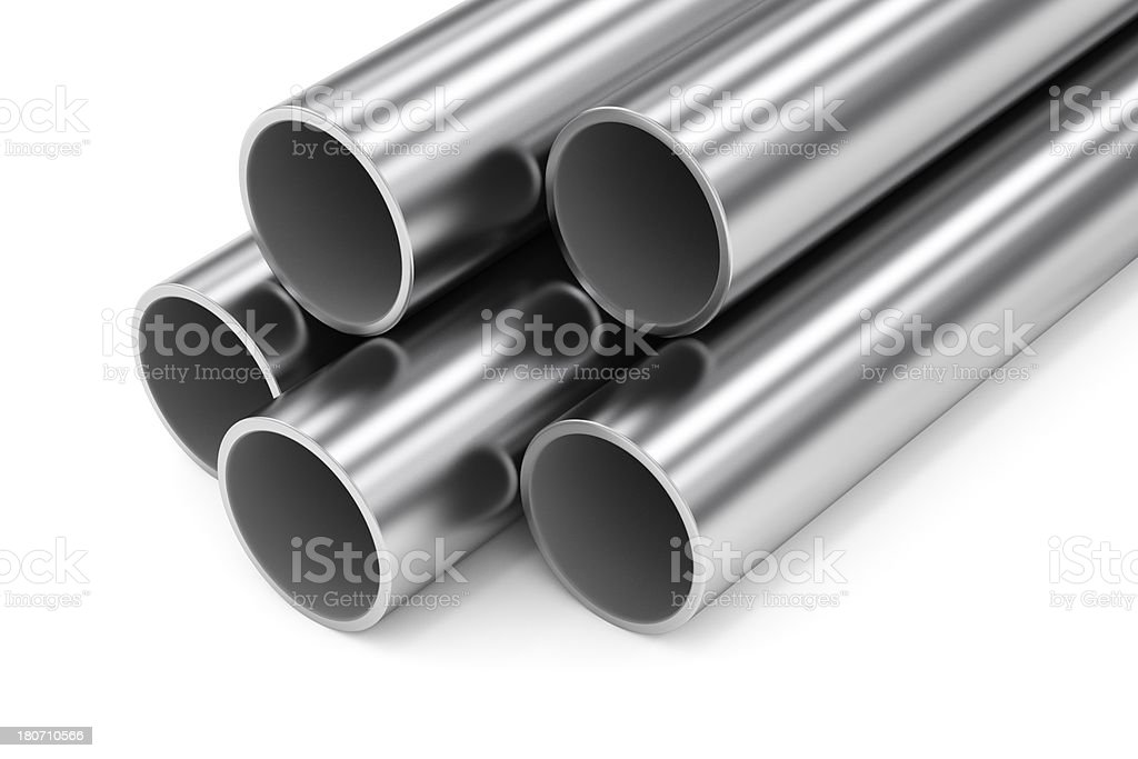 Group of Metal Tubes royalty-free stock photo