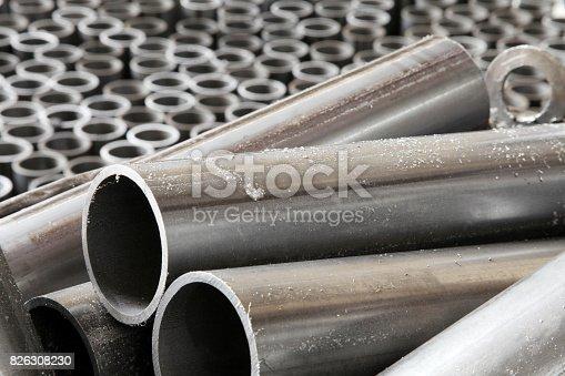 505982545 istock photo Group of Metal Tubes 826308230
