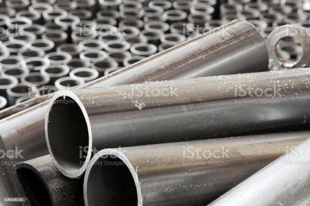 Groupe de métal en forme de tube - Photo