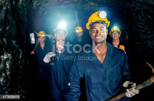 istock Group of miners 477633515