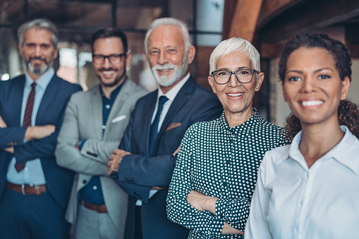 514325215 istock photo Group of mixed age and ethnicity business persons 1251197712