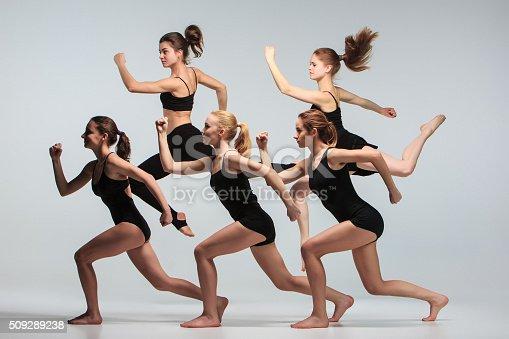 istock Group of modern ballet dancers 509289238
