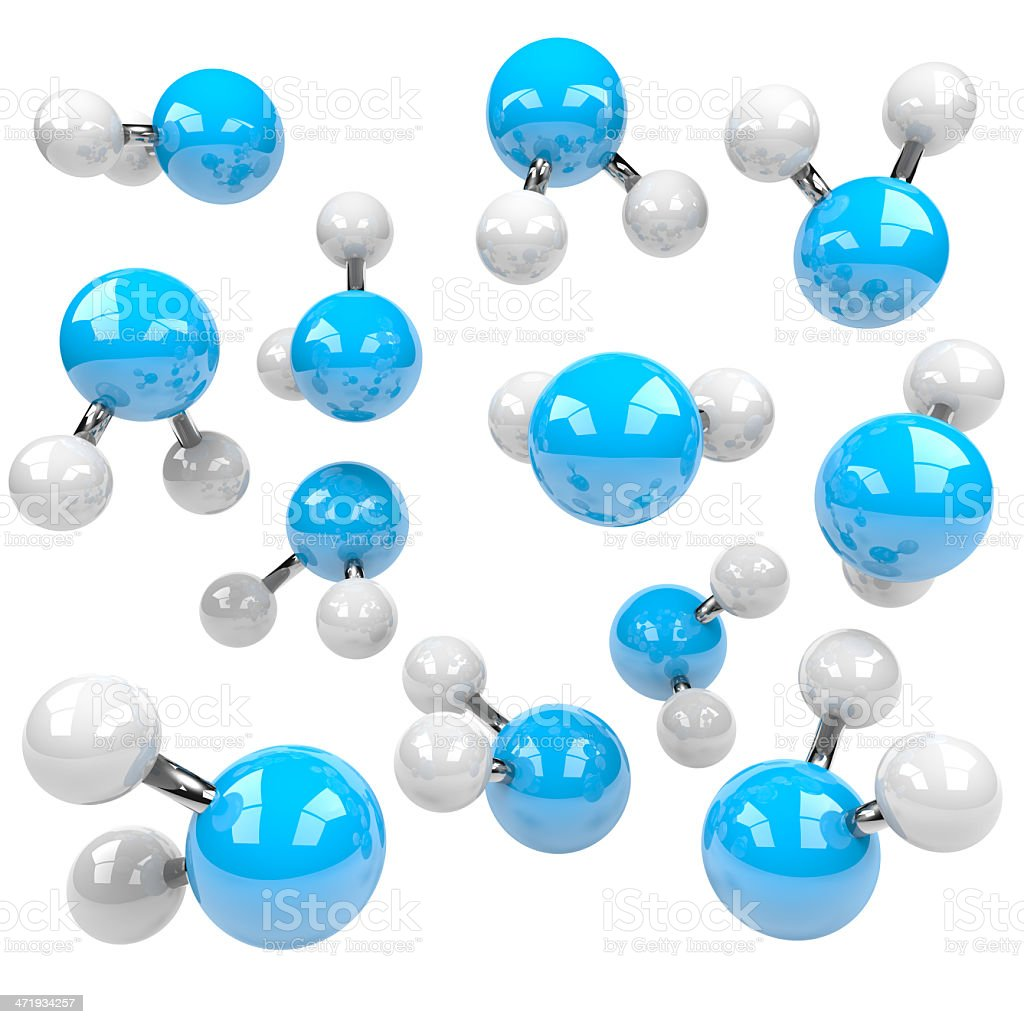 Group of Molecules stock photo