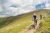 istock Group of mountainbiker at Carinthian pastures, Austria 504018894