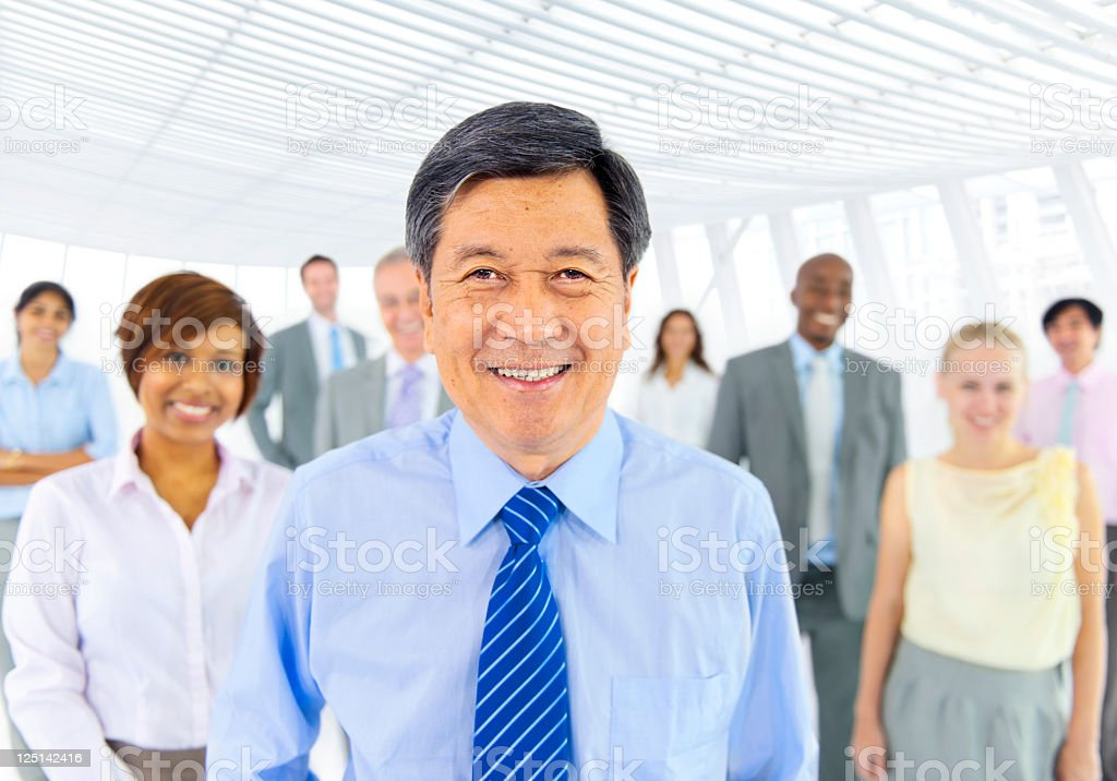 Group of multi ethnic business colleagues royalty-free stock photo