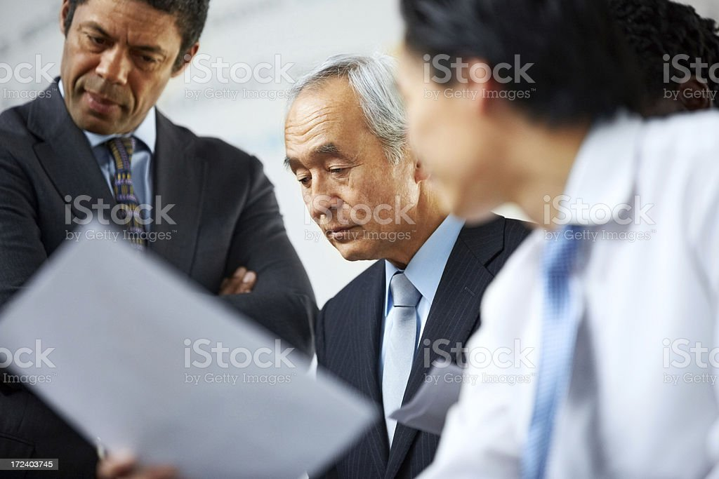 Group of multi ethnic executives during a meeting royalty-free stock photo