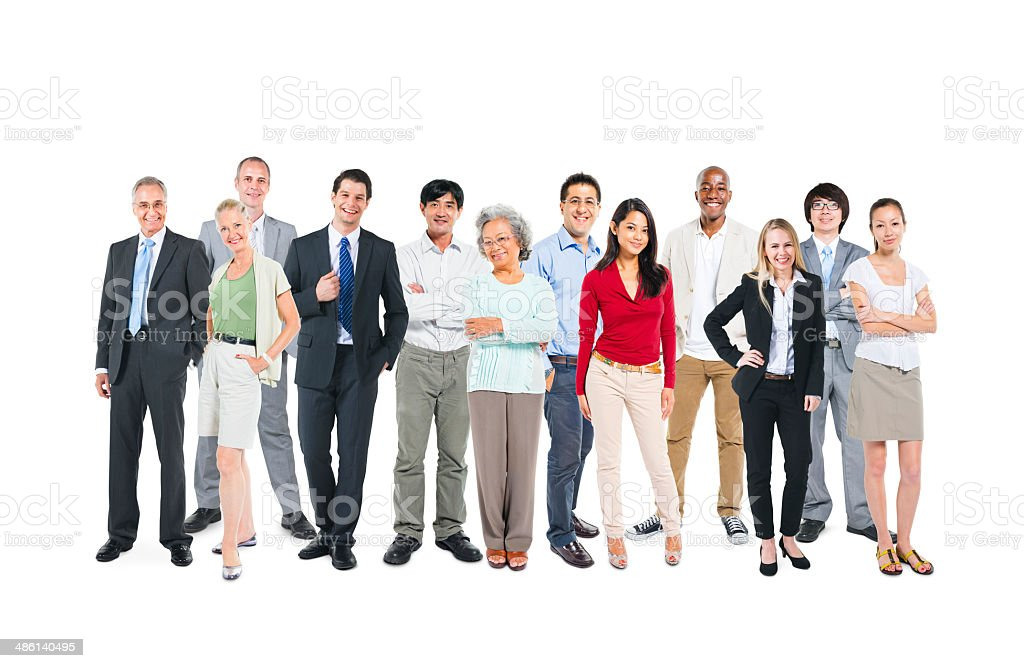 Group Of Multi-Ethnic And Diverse Occupational People stock photo