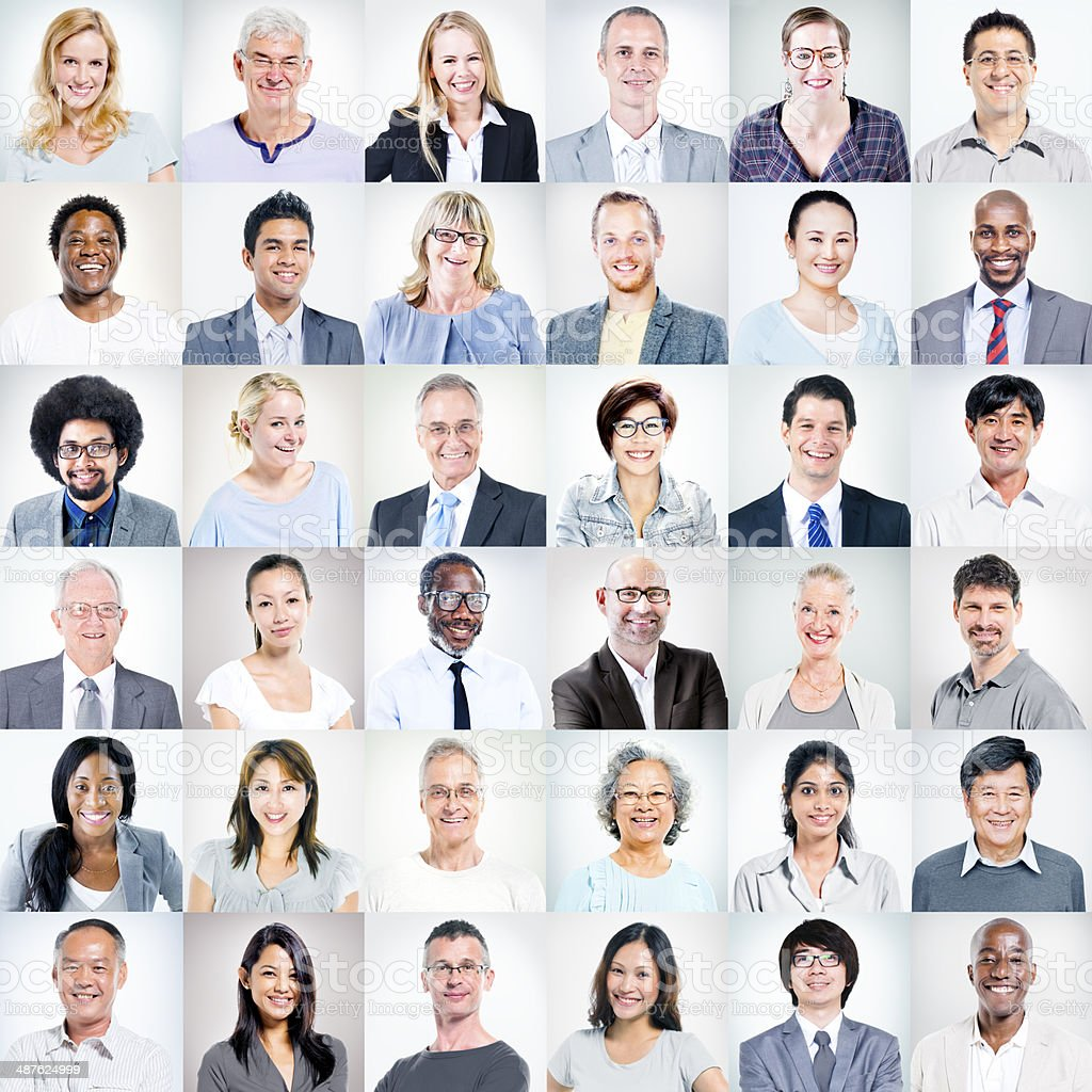 Group of multi-ethnic business people stock photo