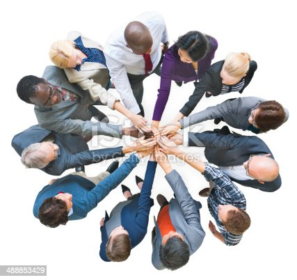 istock Group of Multiethnic Business People United as One 488853429