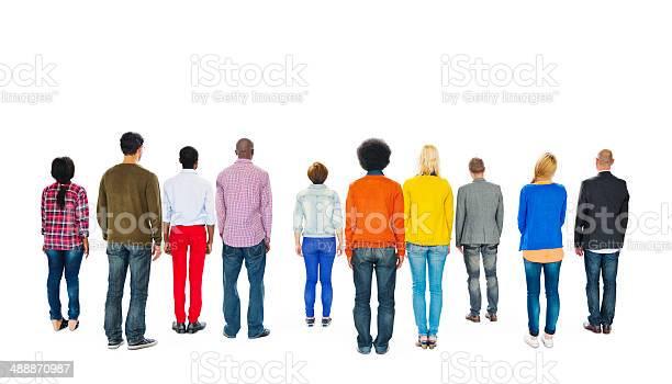 Group of multiethnic colourful people facing backwards picture id488870987?b=1&k=6&m=488870987&s=612x612&h=vvtupyp anwwuqopsjeioiavz8jfn22 kgkzyuu0ul0=