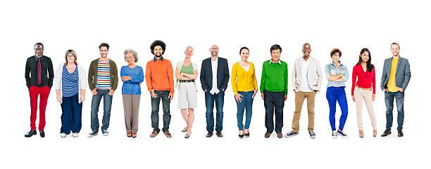 Multiethnische Gruppe von verschiedenen bunten Personen – Foto