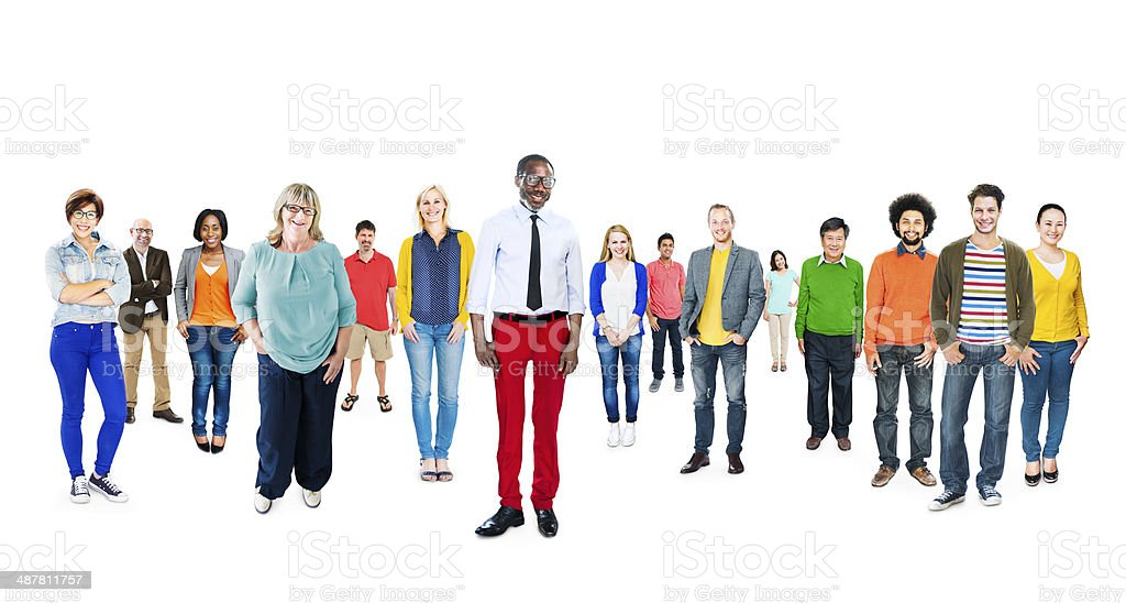 Group of Multiethnic Diverse Colorful People stock photo