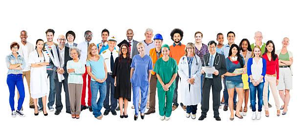 Groupe multiethnique de divers mouvements métier personnes - Photo
