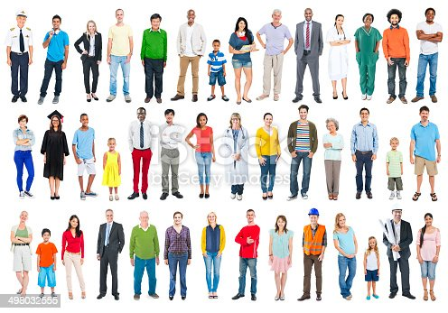 istock Group of Multiethnic Diverse Mixed Occupation People 498032555