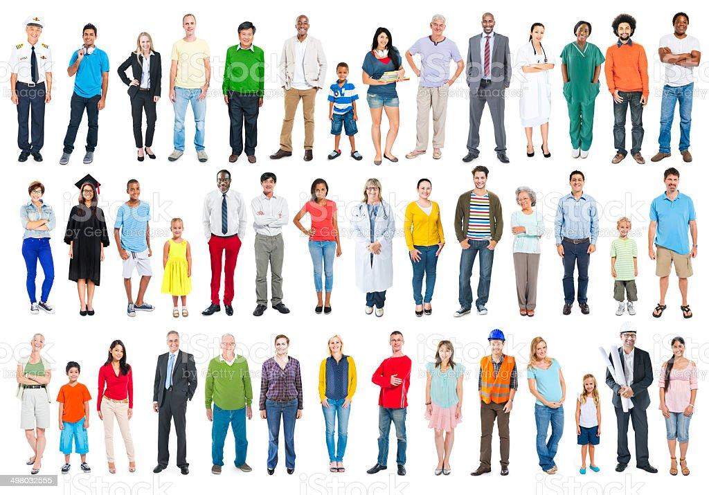 Multiethnische Gruppe von verschiedenen gemischte Besetzung Personen – Foto