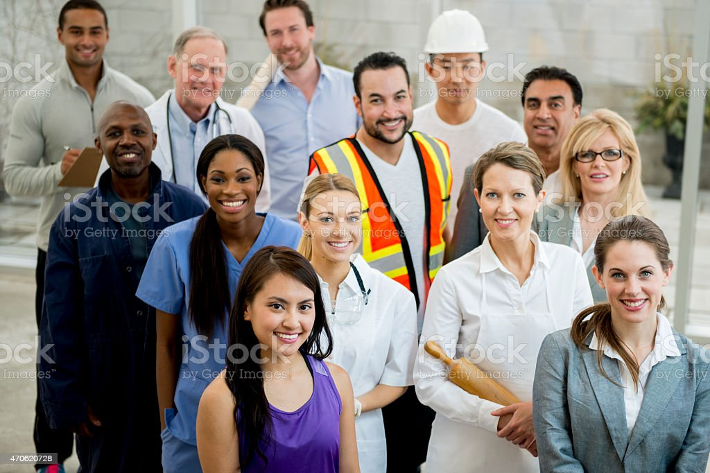 Group of Multi-Professionals stock photo