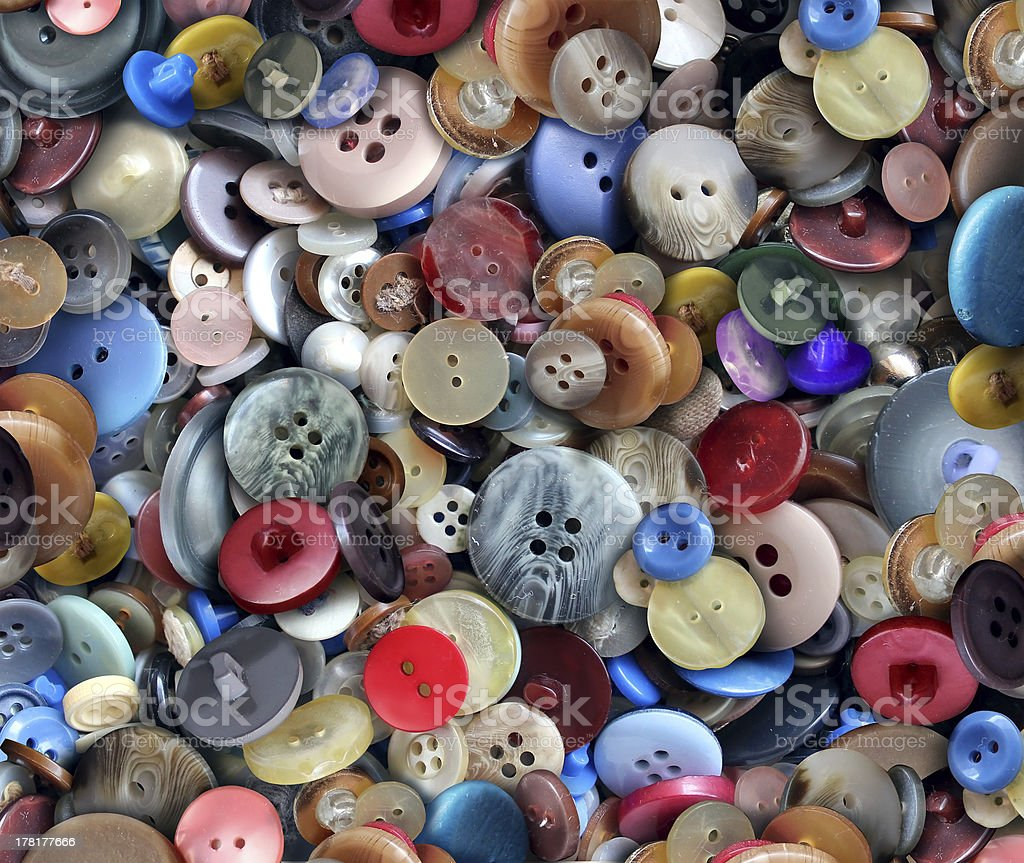 Group Of Old Buttons stock photo