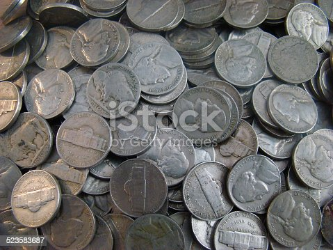 Large Group of old United states nickels