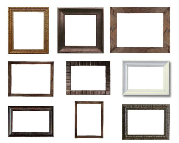 Gruppe von alten Vintage Holz Bilderrahmen – Foto