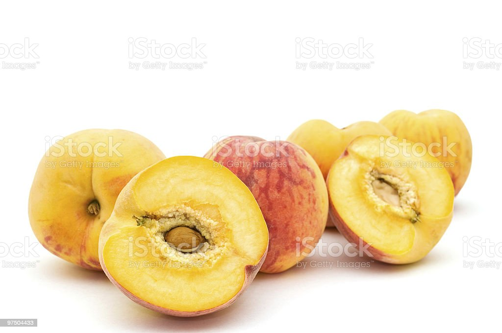 Group of peaches. royalty-free stock photo