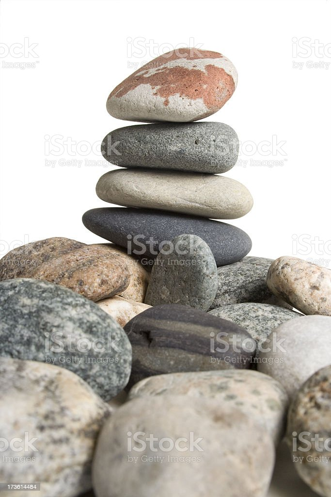 Group of pebbles royalty-free stock photo