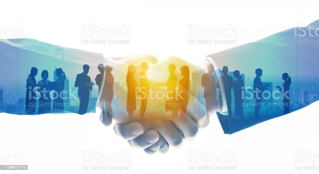 Group of people and communication network concept. Human resources. Teamwork of business. Partnership. - Royalty-free A Helping Hand Stock Photo