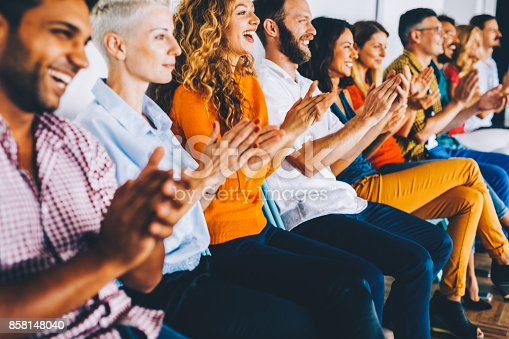 istock Group of people applauding 858148040