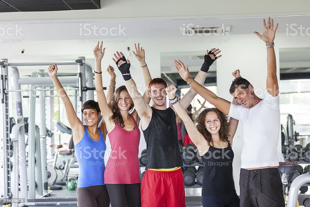 Group of People at Gym royalty-free stock photo