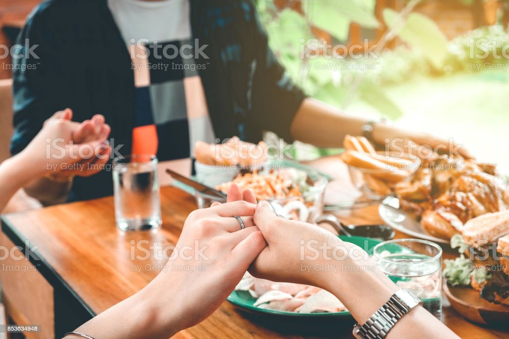 Group of people Celebrating Thanksgiving Holiday Tradition Holiday stock photo