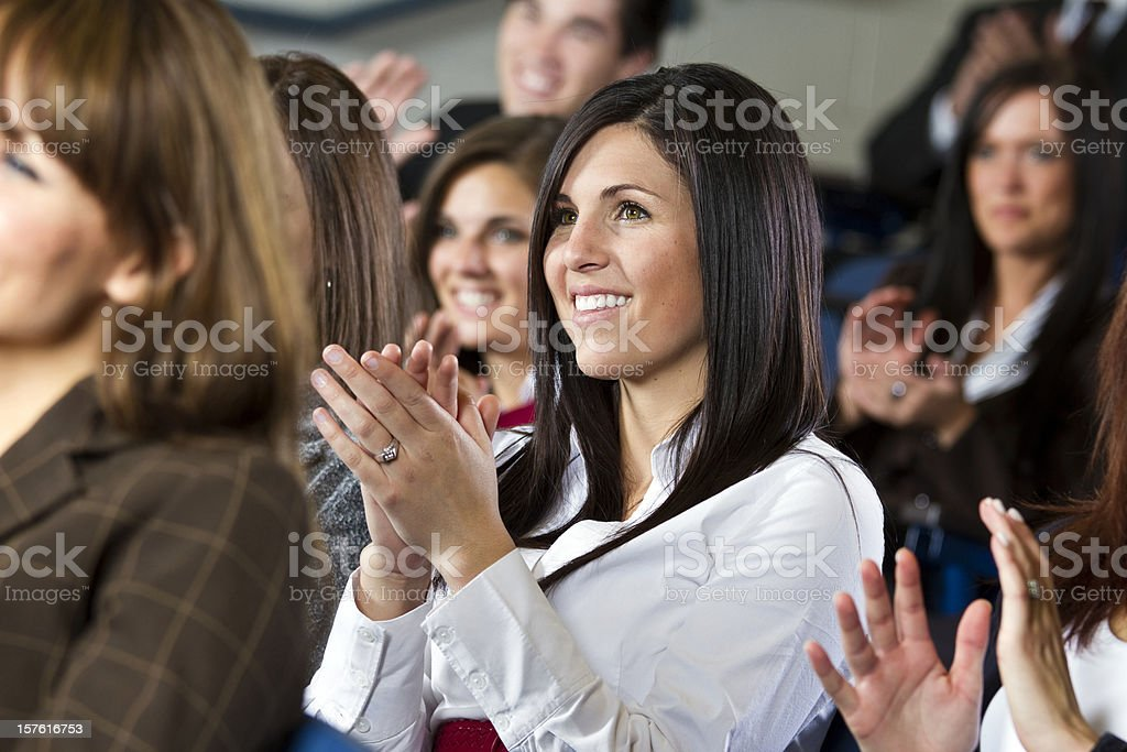 Group of people clapping royalty-free stock photo