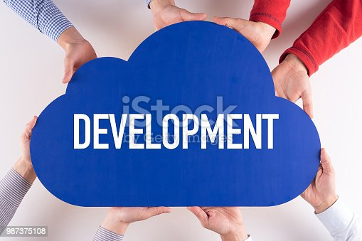 477843023 istock photo Group of People Cloud Technology DEVELOPMENT Concept 987375108
