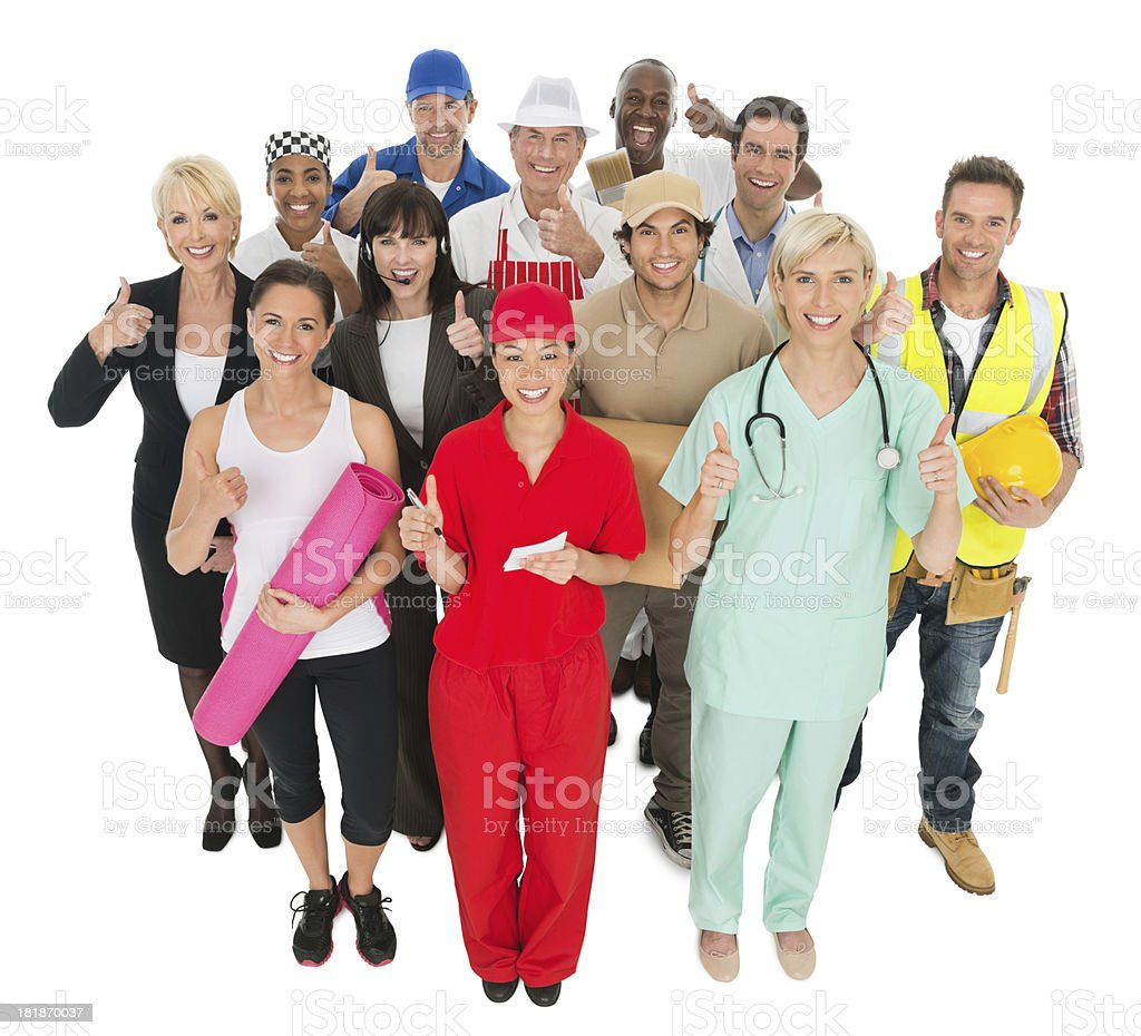Group of People - Different Trades royalty-free stock photo