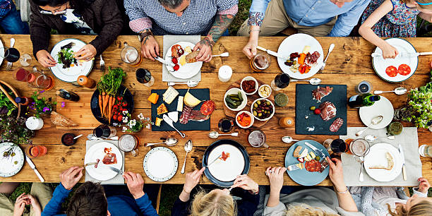 Group Of People Dining Concept - Photo