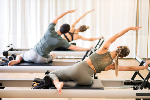 3,845 Pilates Reformer Stock Photos, Pictures & Royalty-Free Images