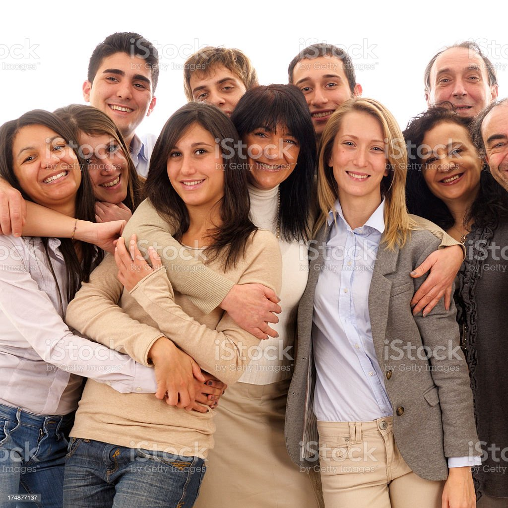 Group of People Embracing royalty-free stock photo