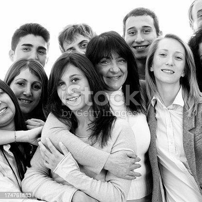 536775759istockphoto Group of People Embracing.Black And White 174761883
