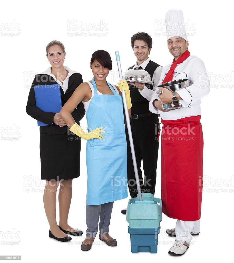 Group of people from different professions stock photo