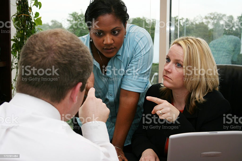 Group of people having an argument royalty-free stock photo