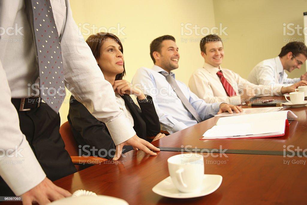 group of people having fun during informal business meeting royalty-free stock photo
