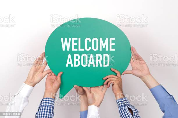 Group of people holding the welcome aboard written speech bubble picture id1003365394?b=1&k=6&m=1003365394&s=612x612&h=s8rd9wporwjrlsosugkljostugghrssrcef0bshyvk0=