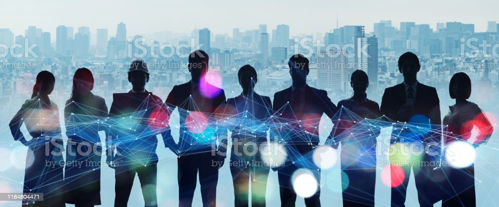 Group of people. Human Resources. Global network. Diversity. - Royalty-free 5G Stock Photo