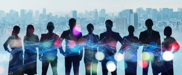 Group of people. Human Resources. Global network. Diversity. stock photo
