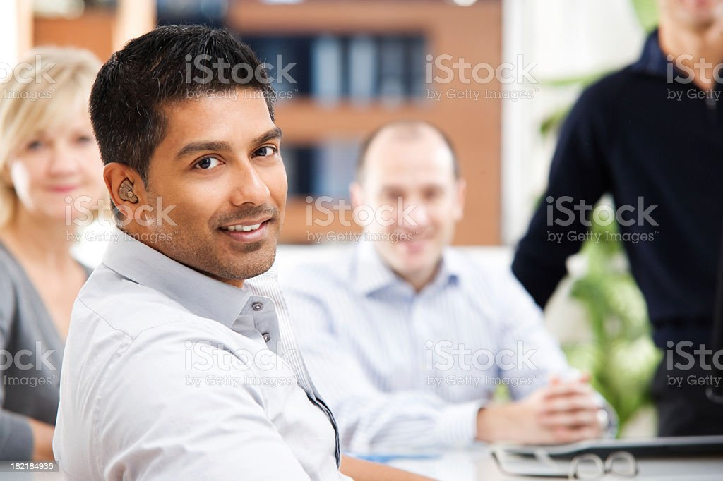 A group of people in business casual dress royalty-free stock photo