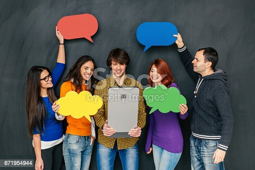 638013502 istock photo Group of people in communication concept 671954944