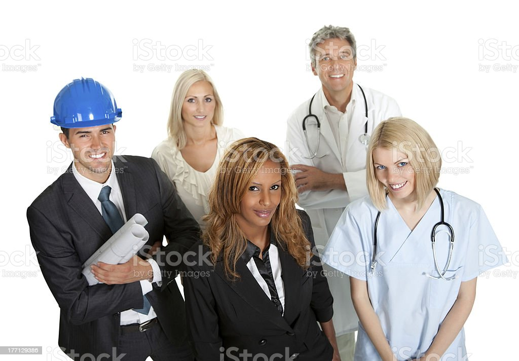 Group of people in different professions royalty-free stock photo