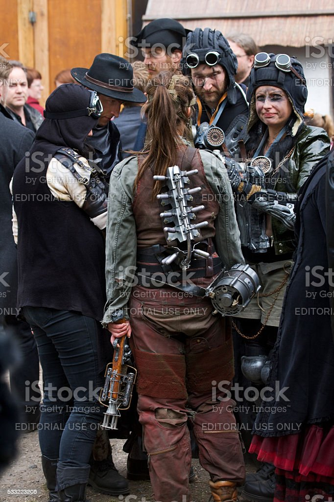 Group Of People In Fantasy Costumes On Wgt Leipzig Stock Photo Download Image Now Istock