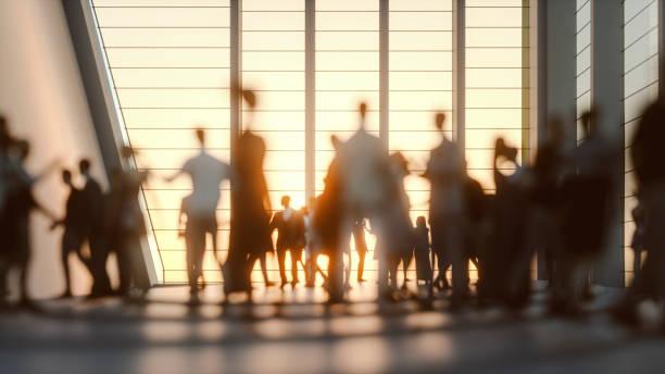 group of people in the conference center - persona in secondo piano foto e immagini stock