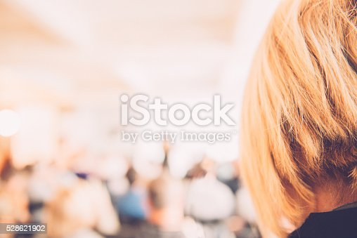 526272636istockphoto Group of People Listening to a Presentation, Paris, France 528621902